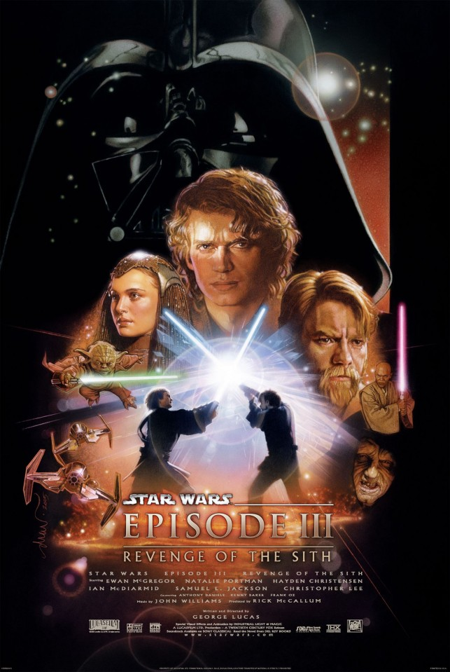Star Wars Episode 3 2005 filmas