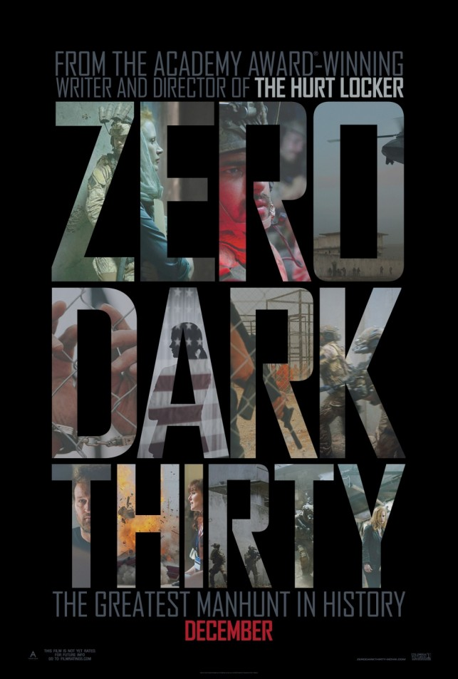 Zero Dark Thirty 2012 poster